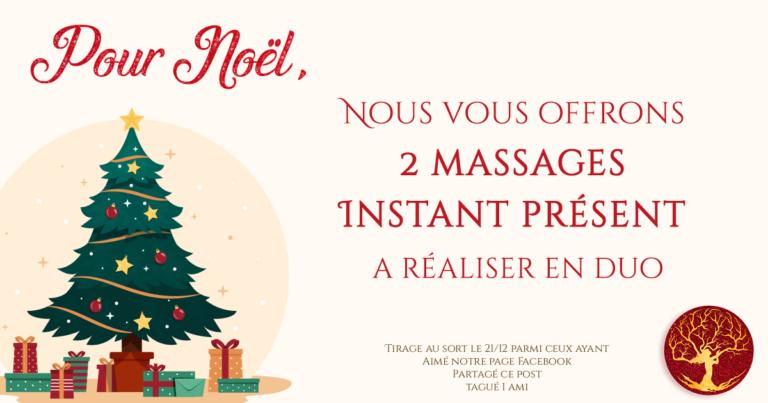 Jeu Concours  À  gagner votre massage Instant Présent à réaliser en Duo  Tirage au sort le 21/12 pa...