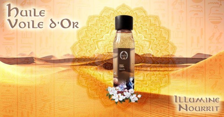 Notre Huile Voile d'Or, aux senteurs d'ambre et de vanille est enrichie en macérât de jasmin et huil...