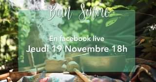 Peut être une image de texte qui dit 'Ban Sonore En facebook live Jeudi 19 Novembre 18h'